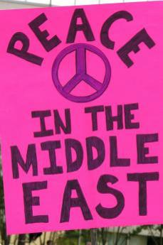 Peace in the Middle East poster