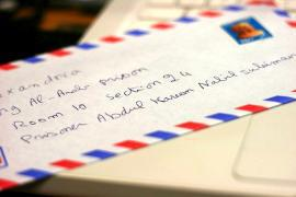 Kareem Amer's letters (Photo by Georgia Popplewell)