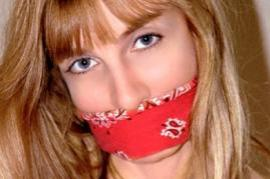 Gagged girl (Photo by  Wikicommons, user Lorelei7)
