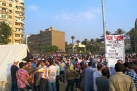 The demonstration in Egypt (Photo by lokha)
