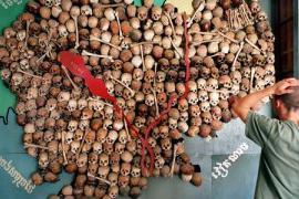 Cambodia genocide skulls