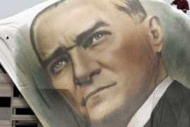 An image of Ataturk who secularized Turkey