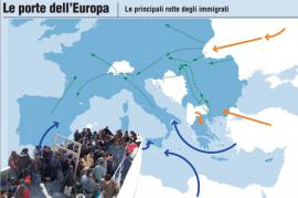 Migrant routes (picture by Giornalettismo)