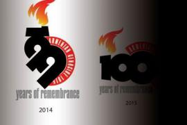 Logo of 99th and 100th commemoration (photocredit: armenian radio)