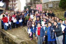Students and authorities who attended the ceremony