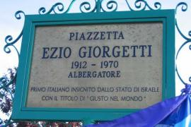 The plaque of Giorgetti Square