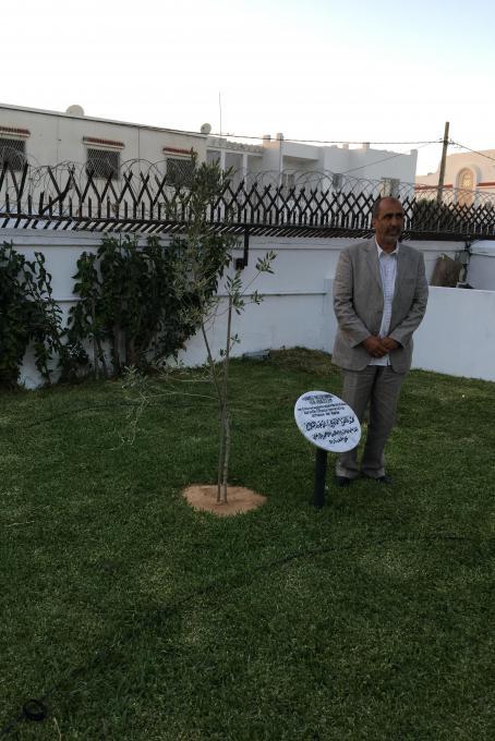 Hamadi unveils his memorail stone