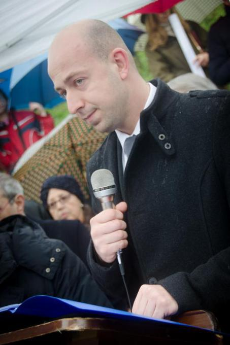 The speech by Alexander Balabanov, great-grandson to Dimitar Peshev