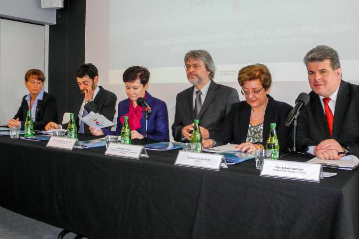 Annalia Guglielmi (second from right) and other distinguished participants of the Polish Committee March 6th