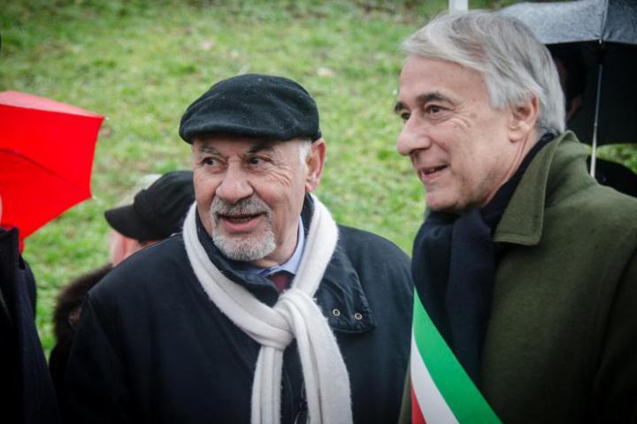 Armenia's consul Pietro Kuciukian and Milan's Mayor Giuliano Pisapia