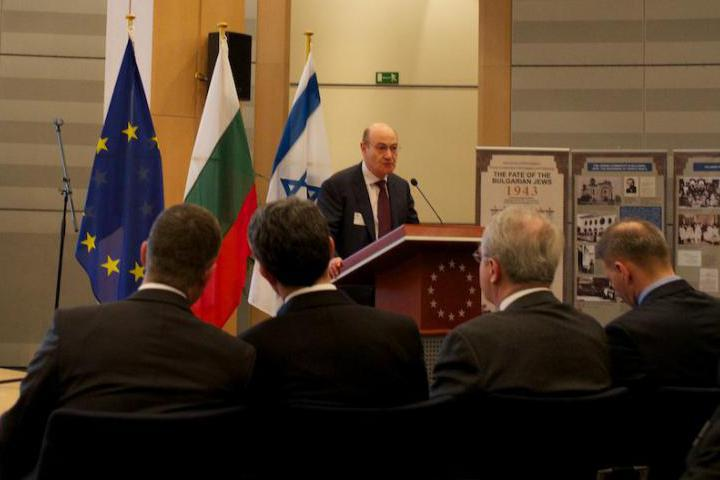 Gabriele Nissim at the commemoration of the 70th anniversary of Rescue of Bulgarian Jews, in Brussels