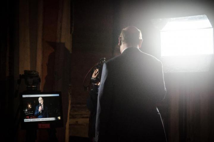 Gabriele Nissim's speech broadcast on tv