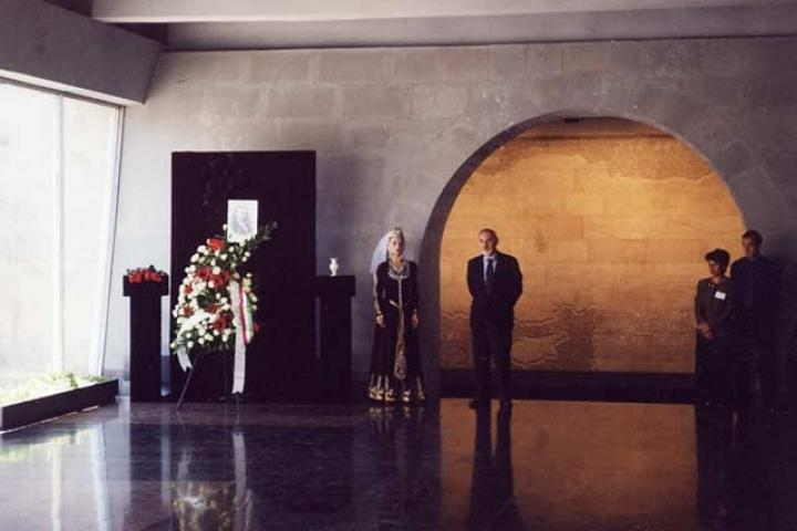 A moment of the Ceremony at the Museum of Genocide