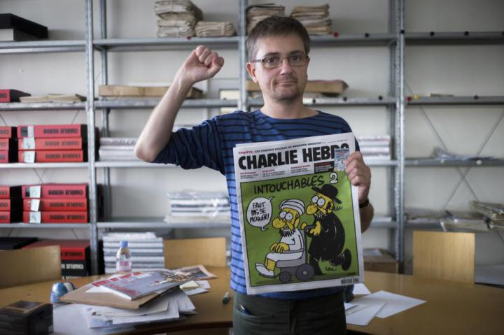 Stéphane Charbonnier, editor-in-chief (photo credit: Fred Dufour, AFP/Getty Images