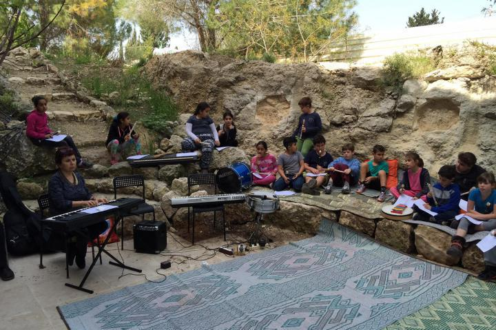 Children orchestra in Neve Shalom