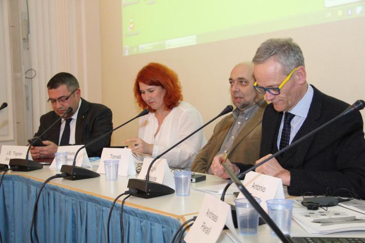 Cyril Svoboda, Tomas Kraus, Karel Schwarzenberg and J.E. Tigran Seiranian
