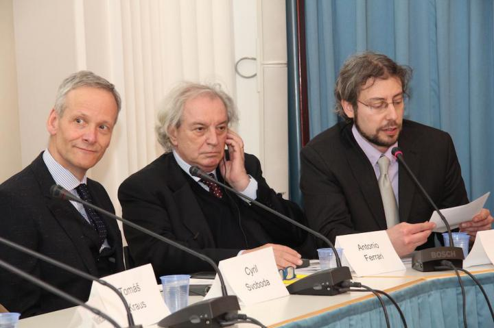Cyril Svoboda, Antonio Ferrari and Andreas Pieralli