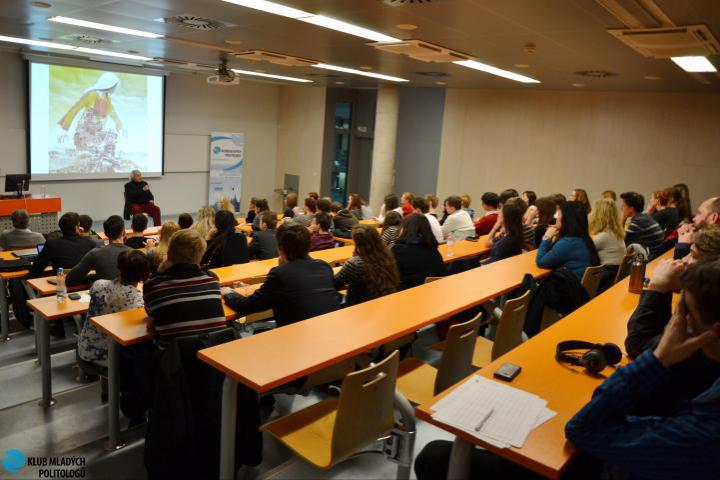 Antonio Ferrari during seminar at VSE University