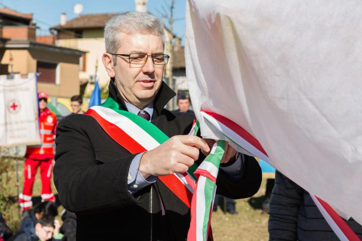 The mayor of Calvisano Giampaolo Turini
