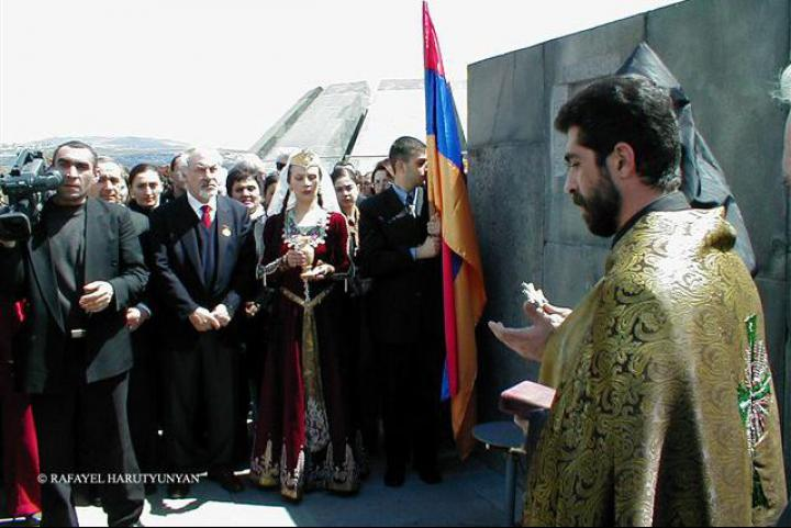 The ceremony in Yerevan