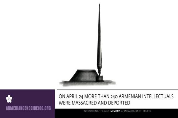 On April 24 more than 240 armenian intellectuals were massacred and deported