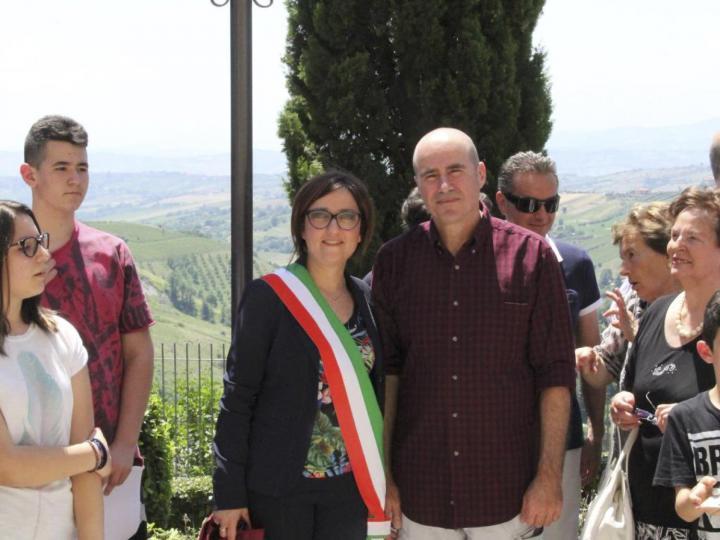 Vice mayor Isabella Bosano and Beniamino Ventura