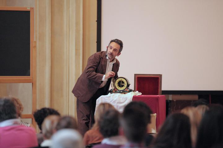 "The theatrical show ""Il Memorioso"", starring Massimiliano Speziani"