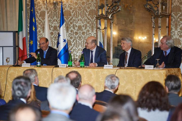 3 March - Secretary General of the Farnesina Michele Valensise. Gariwo Chairman Gabriele Nissim, Corriere della Sera chief editor Ferruccio de Bortoli and journalist Antonio Ferrari