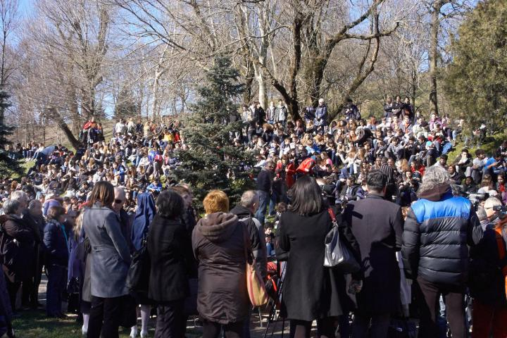 6 March - Past and present. The ever necessary Righteous -On European Day of the Righteous, ceremony of dedication of the new trees at Monte Stella Hill in Milan