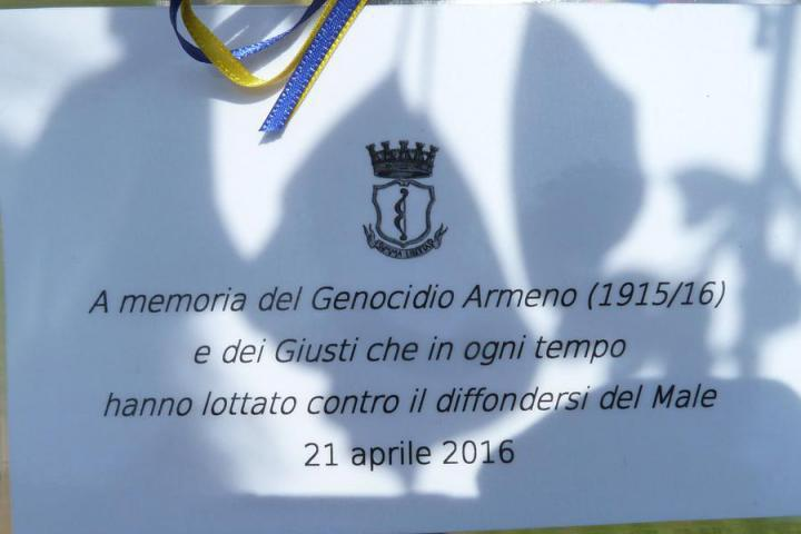 The ceremony was dedicated to the memory of the Armenian Genocide in 1915