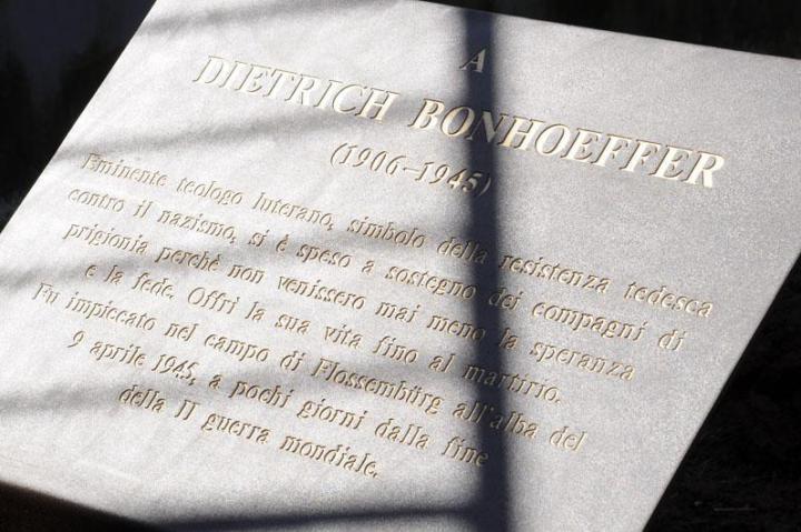 The plaque for Dietrich Bonhoeffer