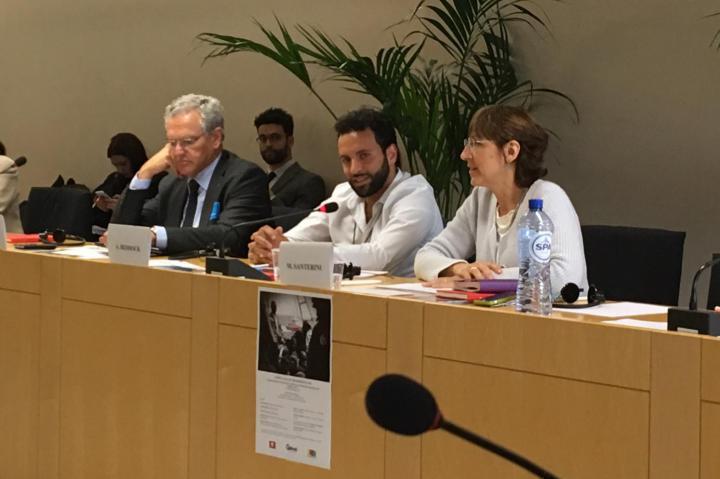 Roberto Jarach with Alexander Beddock and Milena Santerini