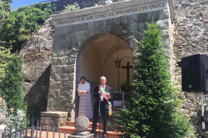 The mayor of Cavriglia Leonardo Degl'Innocenti o Sanni