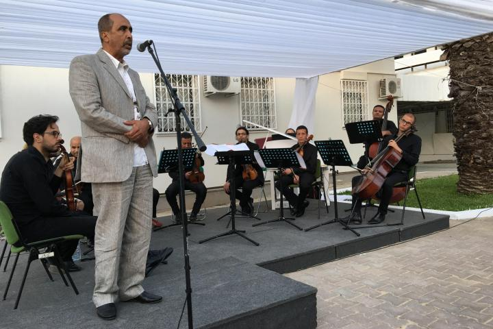 Hamadi during his speech