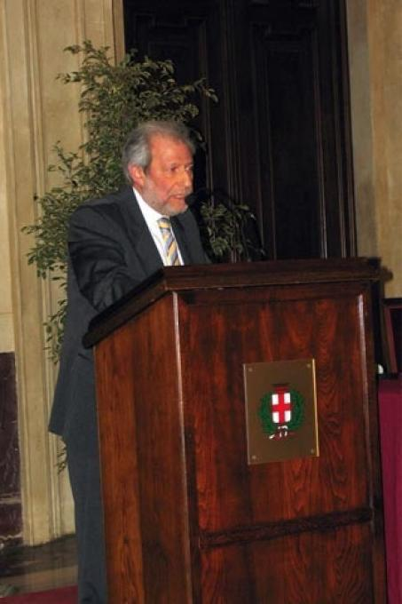 The speech of the president of The Jewish Community of Milan, Leone Soued