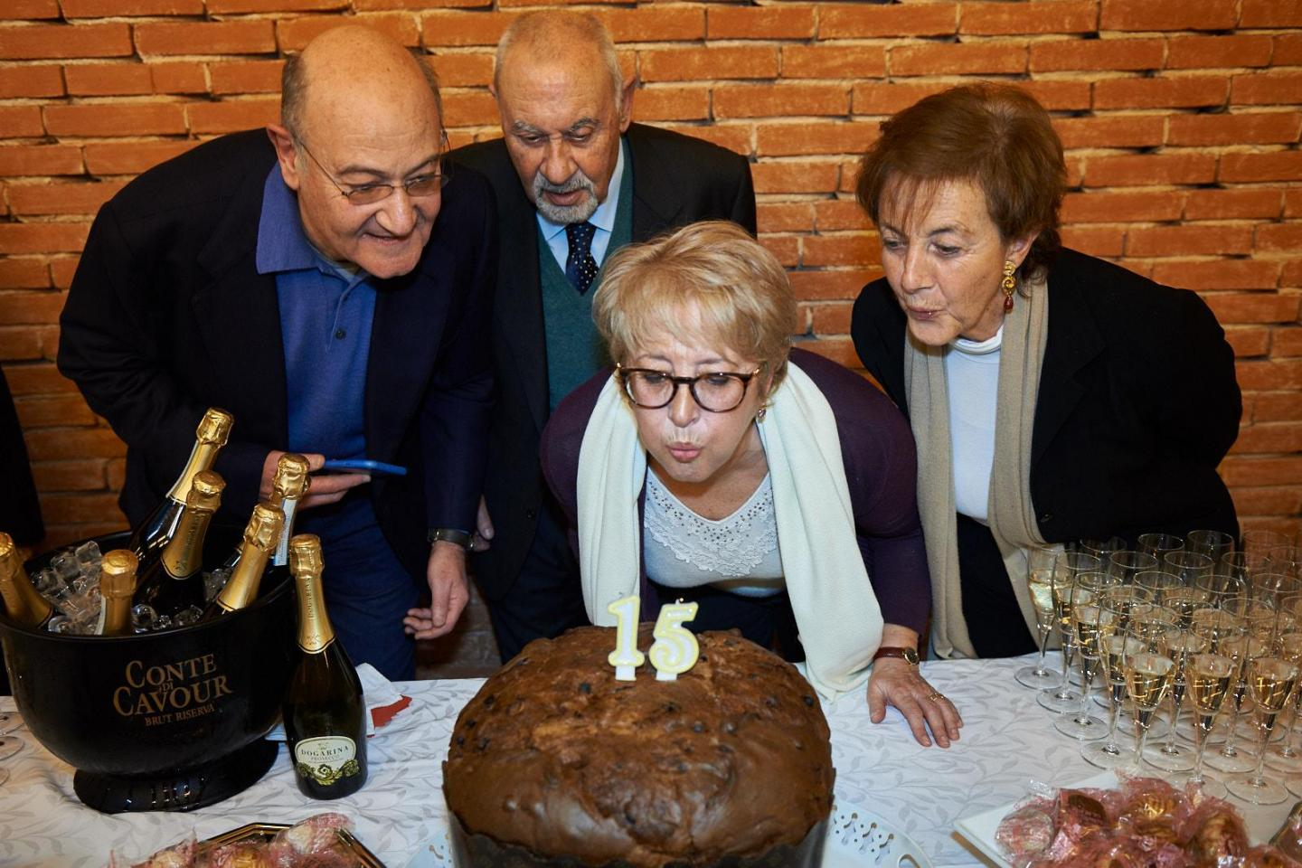 The four founders of Gariwo blow out the candles