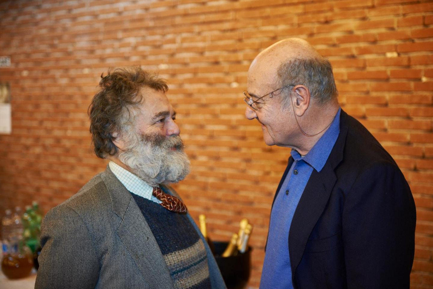 Gabriele Nissim with the gallery owner Jean Blachaert