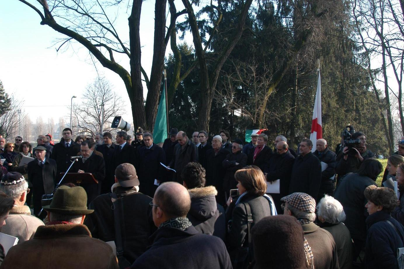2003 - Inauguration of the Garden of the Righteous of Milan