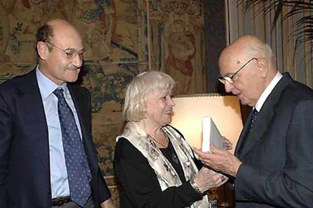2007 - Gabriele Nissim and Luciana De Marchi meet with the President of the Italian Republic Giorgio Napolitano