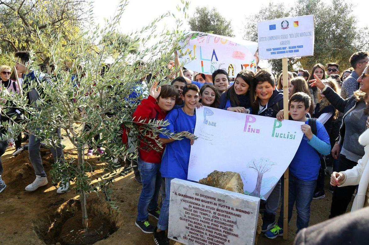 2015 - birth of the Garden of the Righteous in Agrigento