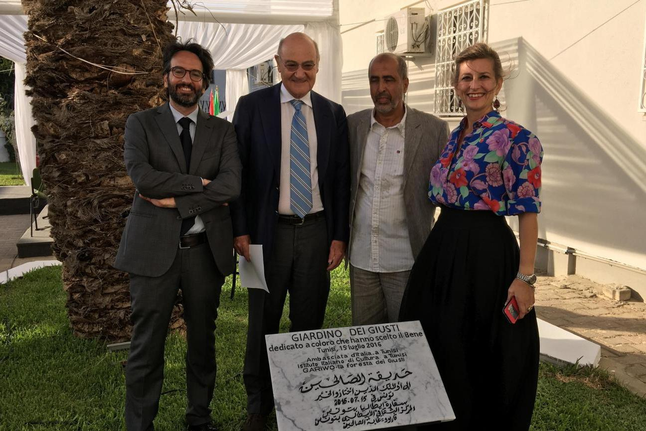 2016 - Birth of the Garden of the Righteous in Tunis, inside the Italian Embassy
