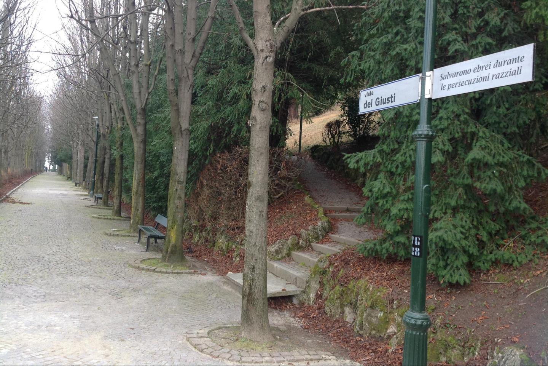 Viale dei Giusti in Villa Genero Park