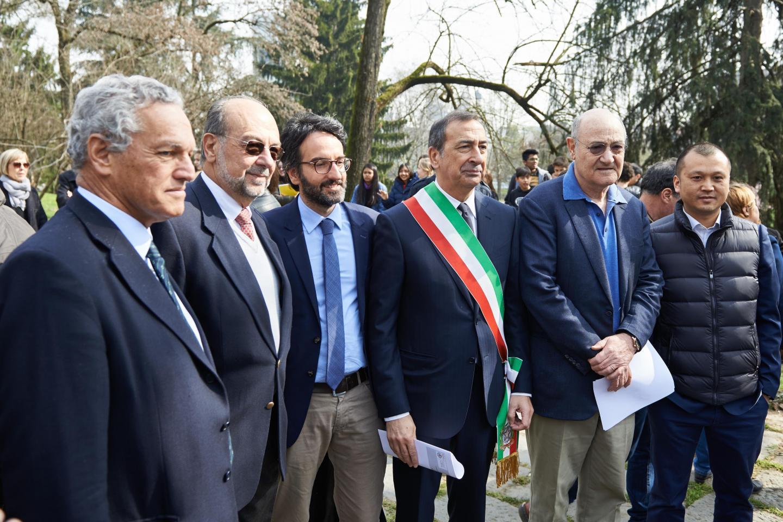Roberto Jarach, Gabriele Nissim, Lamberto Bertolé and Francesco Hu
