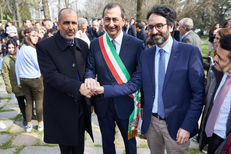 Hamadi ben Abdesslem, Mayor Beppe Sala and Lamberto Bertolé