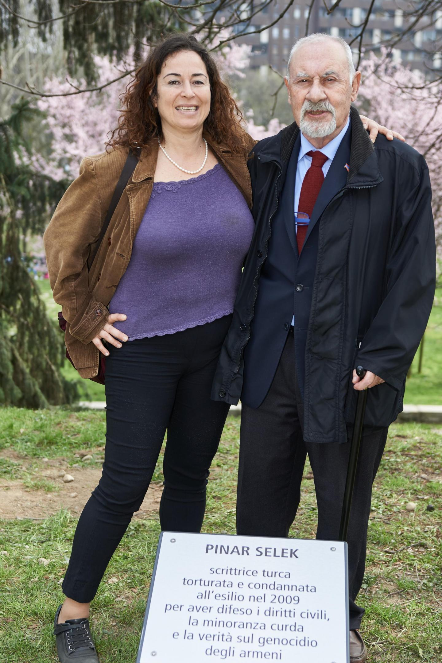 Pinar Selek and Pietro Kuciukian