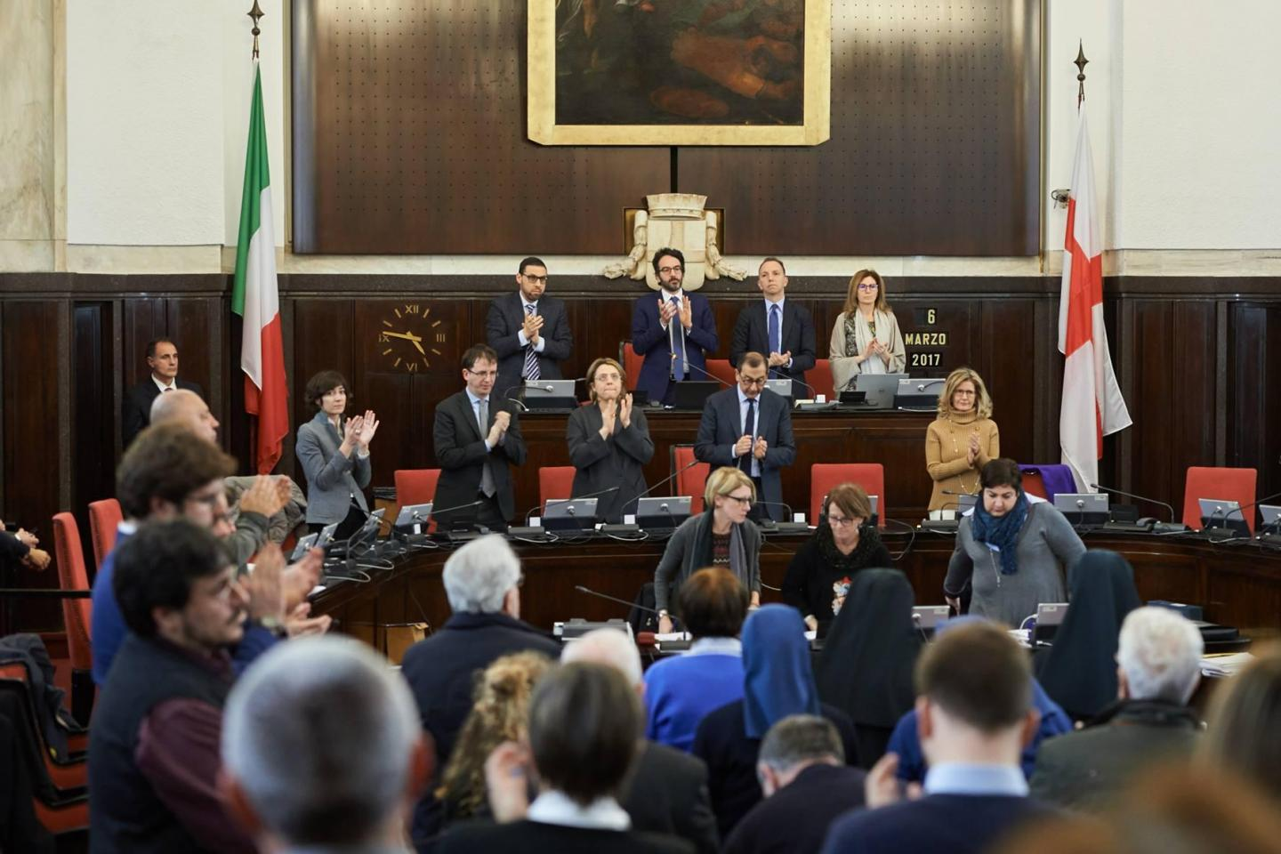 Lamberto Bertolé's speech in honour of the Righteous at the City Council