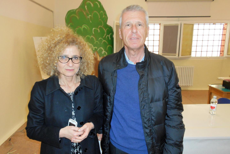 Warden Maria Pitaniello and Franco Perlasca