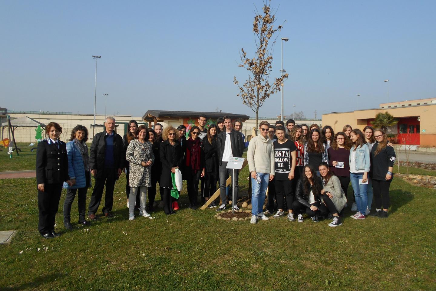 Students of the educational institute M. Bianchi of Monza