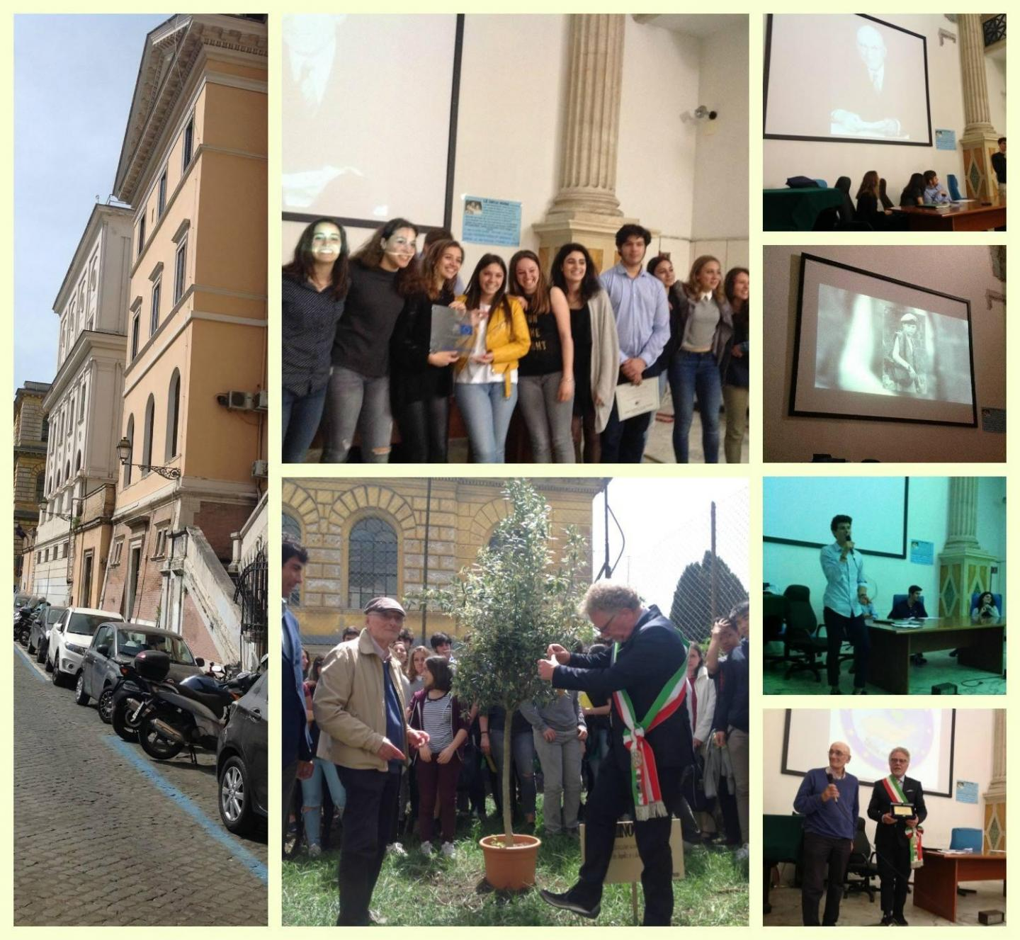 pictures of the inauguration of the Garden in the Cavour high school