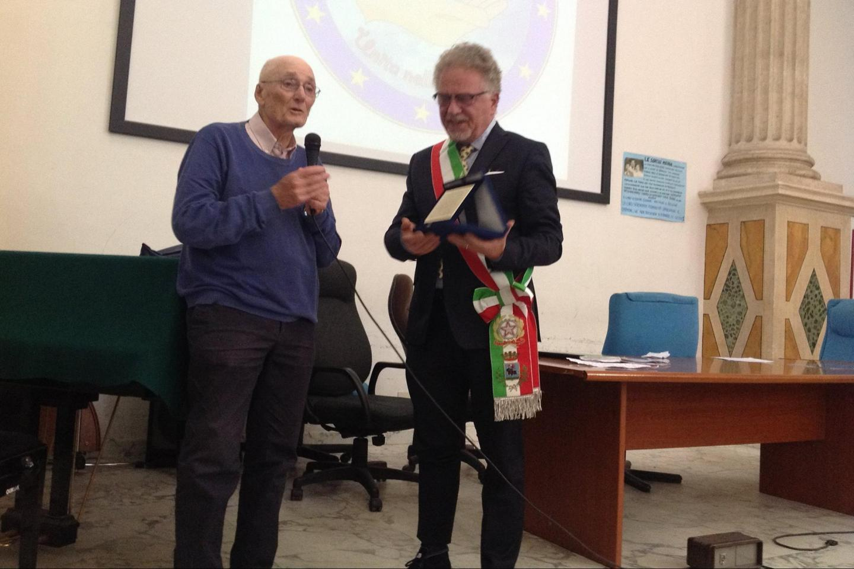 Guido Tagliacozzo and  the Mayor of Magliano Sabina, Alfredo Graziani